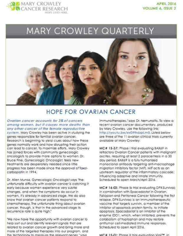 Mary Crowley Quarterly: Volume 6 Issue 2