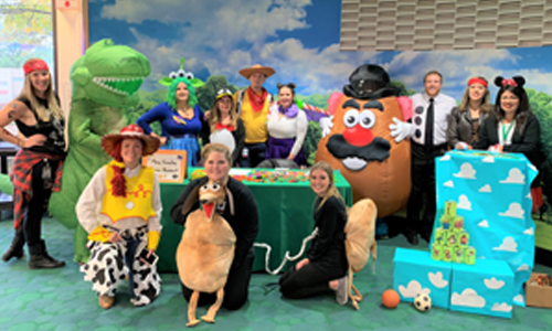 Mary Crowley Team in Toy Story Costumes at Medical City Children's Festival 2018