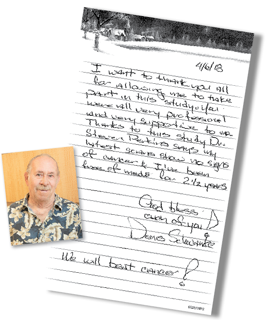 Letter from patient Denis Schwanke