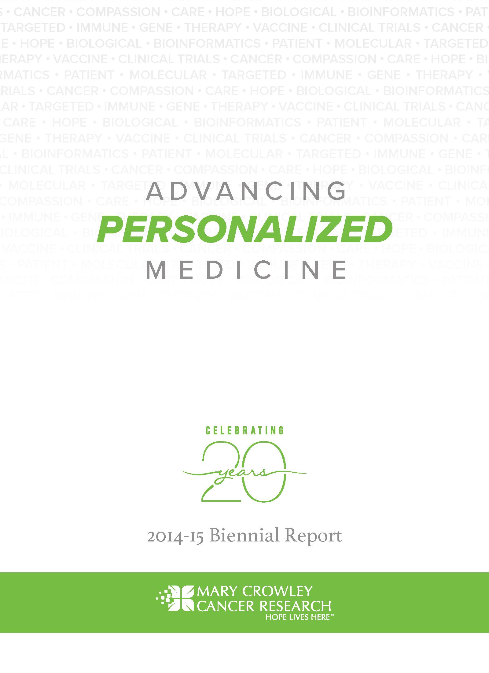 2014-2015 Biennial Report